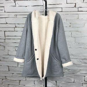 Zella Coat Lined Sherpa Hoodie Warm XLarge 2080
